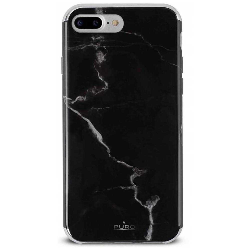 Puro Marble Iphone 8 Plus/7 Plus/6s Plus/6s One Size Black