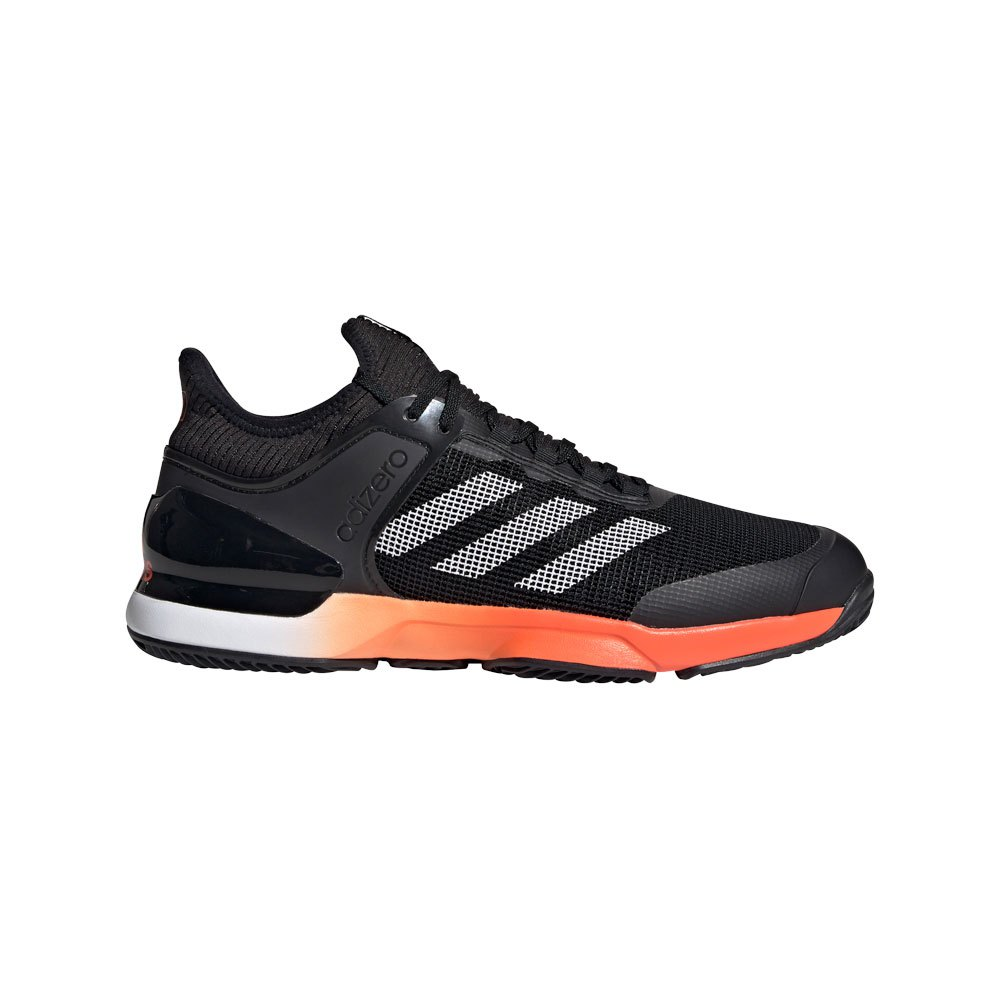 Adidas Adizero Ubersonic 2 Clay EU 40 2/3 Core Black / True Orange / Ftwr White