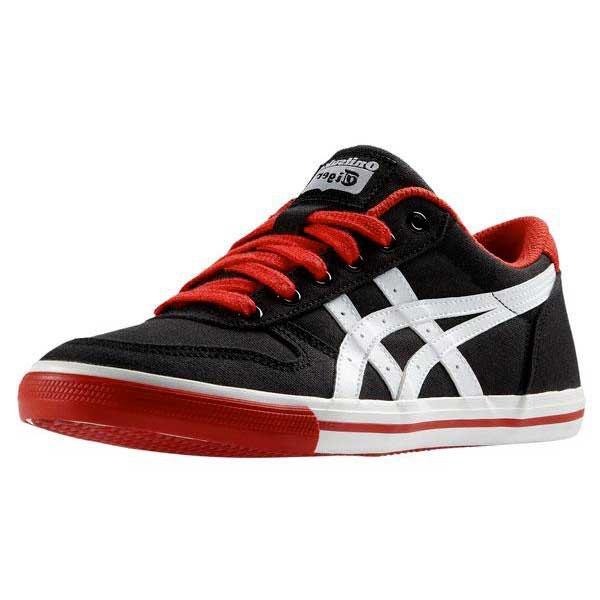 asics tiger aaron cv shoes black white