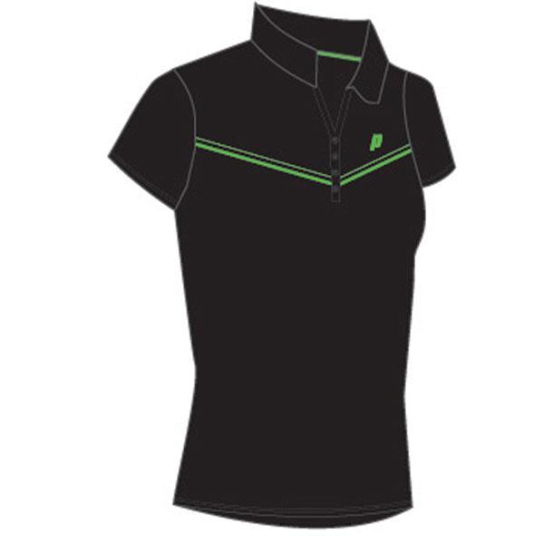 Polos Prince Top Polo Woman Black / Green