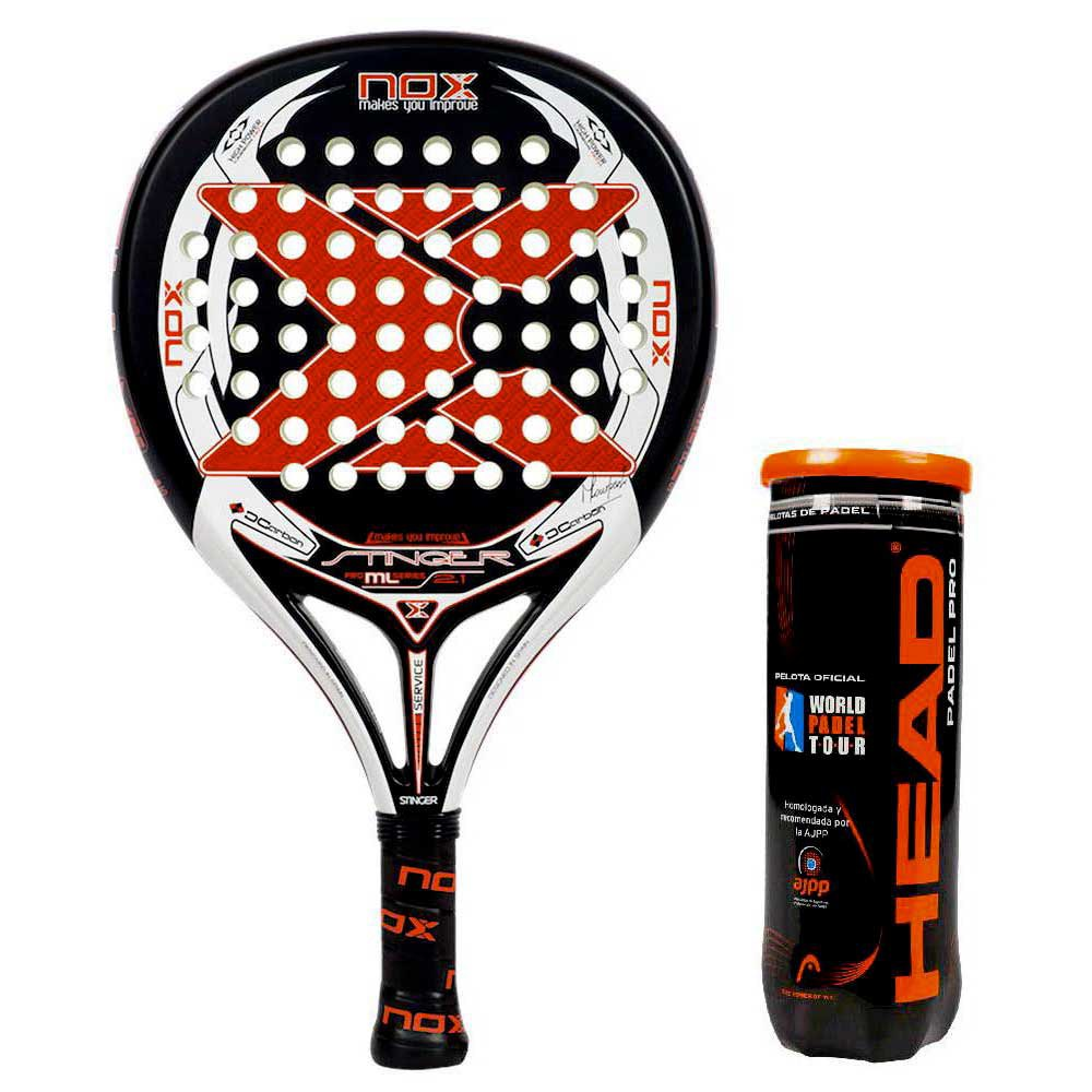 Raquettes de padel Nox Stinger 2.1 One Size Black / White / Red