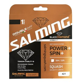 Salming Black Diamond 10 m Squash Single String