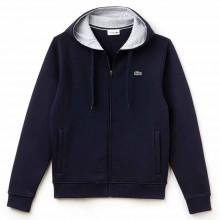 Lacoste Hooded Zippered Sewatshirt Fleece